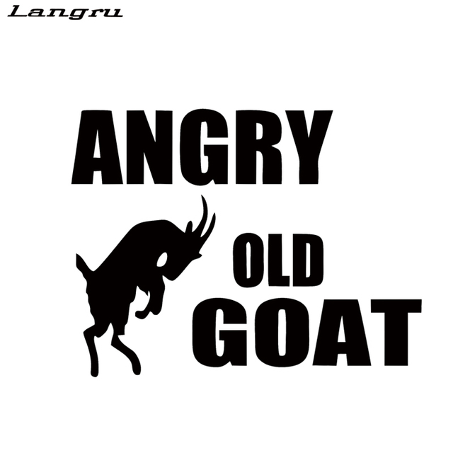 Langru New Style Car Stying Angry Old Goat Car Sticker