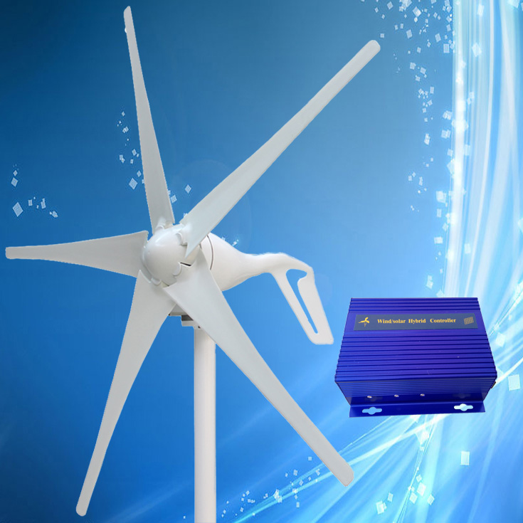 US $139 0 |2019 New Arrival 400W Wind Turbine Generator + Wind/Solar Hybrid  Controller (Max 600W Wind Turbine, Max 300W Solar Panel)-in Alternative