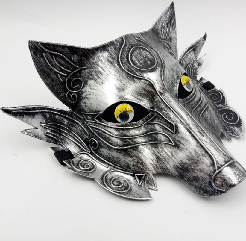 Wholesale 6 pc/lot Game Mask Thickening Wolf Head Mask Horror Funny Mask Halloween Mask image