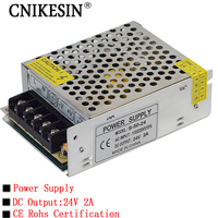 CNKESIN 220V Switch To 24V2A Switching Power Supply LED Lamp Monitor Lighting Power Supply PLC Industrial