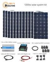 Boguang 1200 Вт Солнечный Системы комплект 100 Вт солнечные панели модуля ячейки 120A контроллер 3000 Вт кабель преобразователя MC4 разъем 12 В мощность