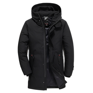 Image 2 - מותג גברים בגדי החורף חדש למטה מעיל האופנה Slim ברדס עבה חם לבן ברווז למטה ארוך מעיל Parka זכר 5XL 6XL