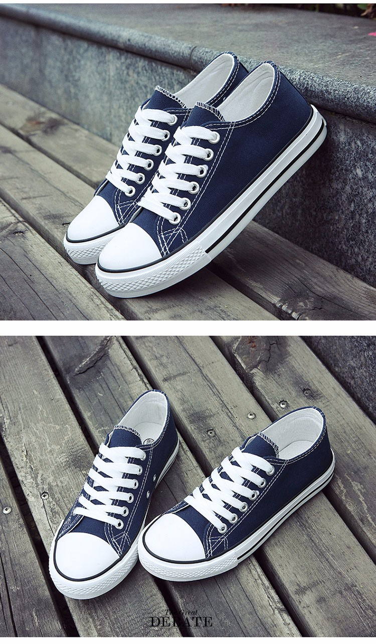 Hellozebra Men Casual Canvas Shoes Classical Lace Up Solid Flats Breathable Board Soft Leather Students Shoes 2016 Autumn New  (19)