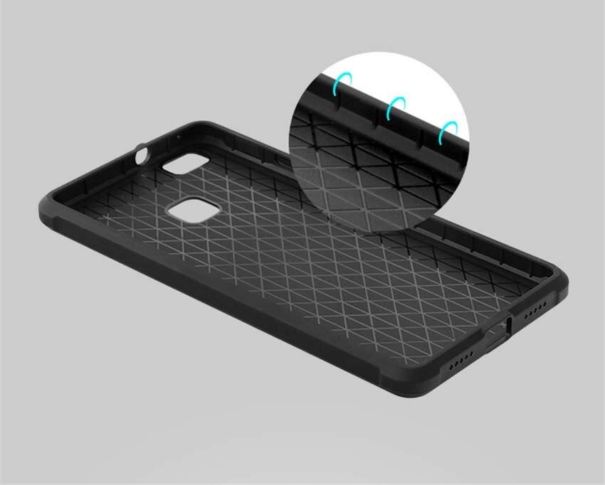 Για Huawei P9 Lite Case Πολυτελές Carbon Fiber Soft - Ανταλλακτικά και αξεσουάρ κινητών τηλεφώνων - Φωτογραφία 4