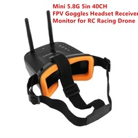 Mini 5.8G 5in 40CH FPV Auto searching Goggles Headset Receiver Monitor with Dual Antenna for RC Racing Drone Aircraft UAV fz