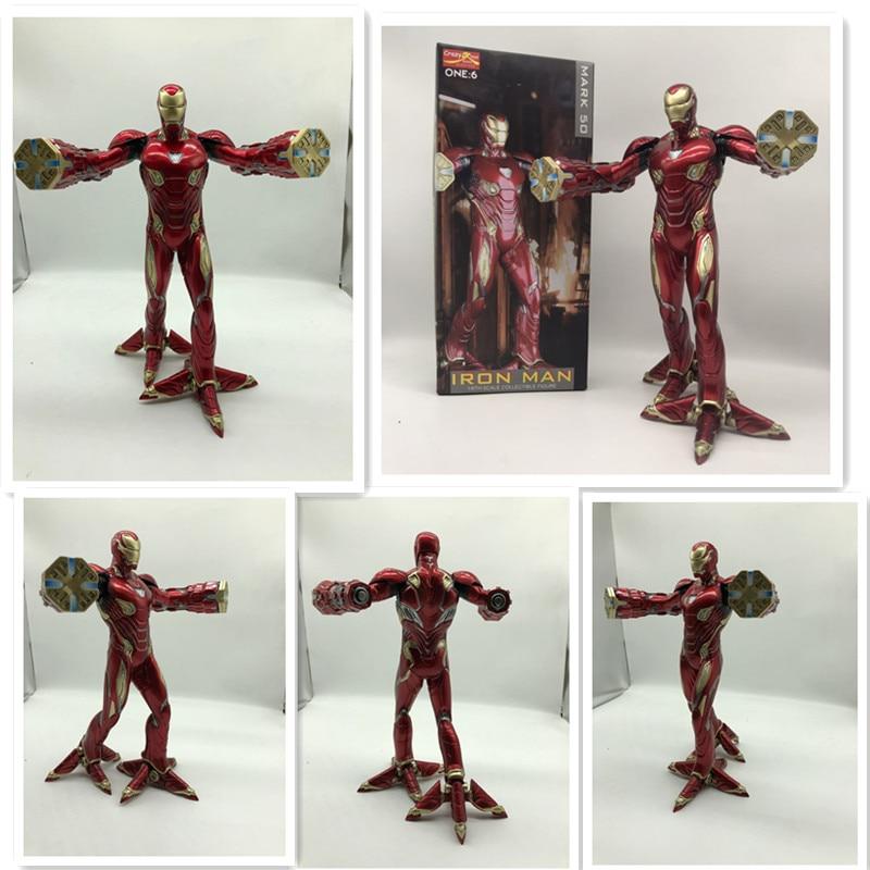 12 cal nowy film Avengers nieskończona wojna znak Iron Mana 50 pcv statua dekoracji kolekcja Toy prezent w Figurki i postaci od Zabawki i hobby na  Grupa 1