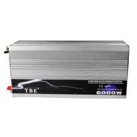 6000 Вт Чистая синусоида Инвертор DC 12 В к AC 220 В 110 В Солнечный Мощность инвертор Пиковая Мощность 12000 Вт для кондиционер/холодильник/насос