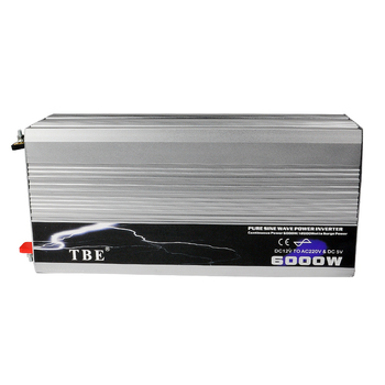 цена на 6000W Pure Sine Wave Inverter DC 12V To AC 220V 110V Solar Power Inverter Peak Power 12000W for Air-condition/Refrigerator/ Pump