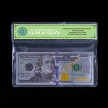 Billetes de plata de los Estados Unidos, dinero en dólares, dinero del mundo, dinero en marco de PVC, 2011 $
