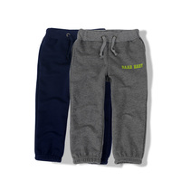 Children's Spring and Autumn Clothing Male Child Casual Trousers Baby 100% Loop Pile Cotton Pants Child Elastic Trousers