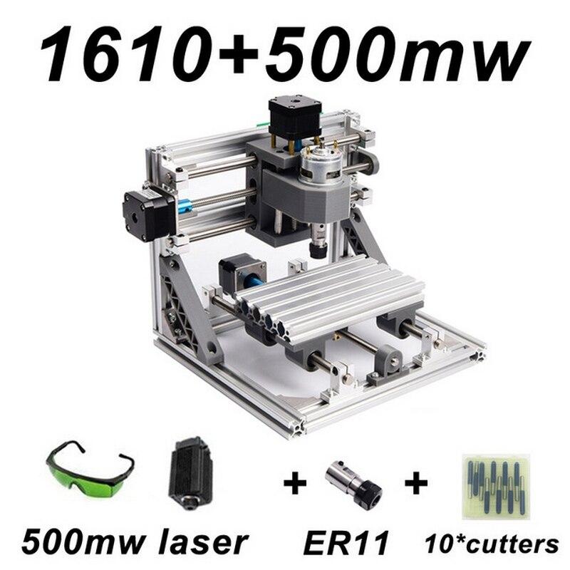CNC1610 5500 mw Machine de gravure Laser ER11 500 mw 1500 mw tête bois routeur PCB fraiseuse bois sculpture Machine bricolage GRBL - 5