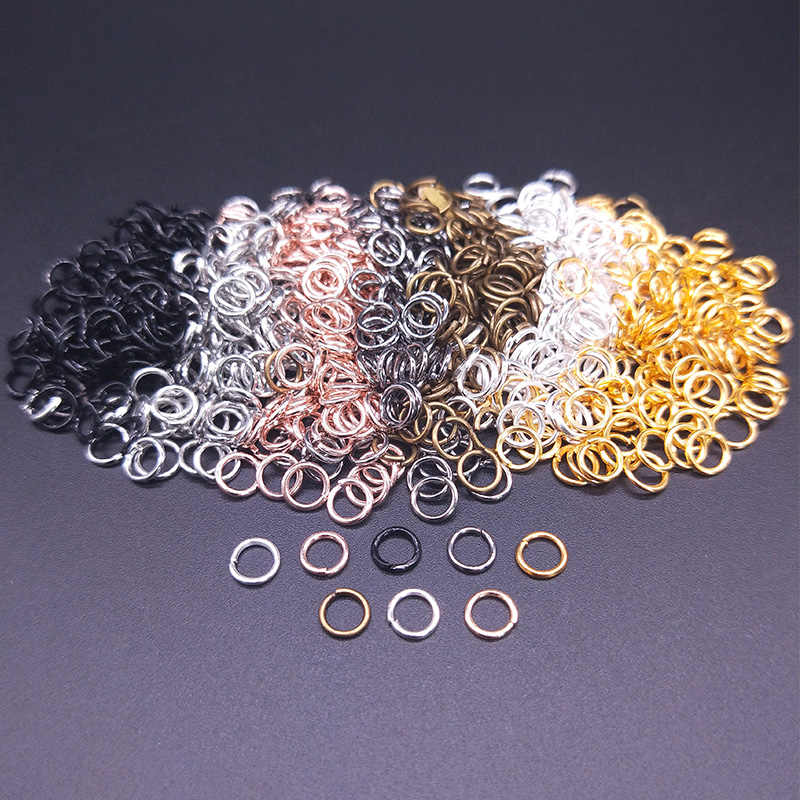 100Pcs/pack 5mm Open Circle Jump Rings Necklace Bracelet Earring Pendant Connectors DIY Making Jewelry Crafts Accessories
