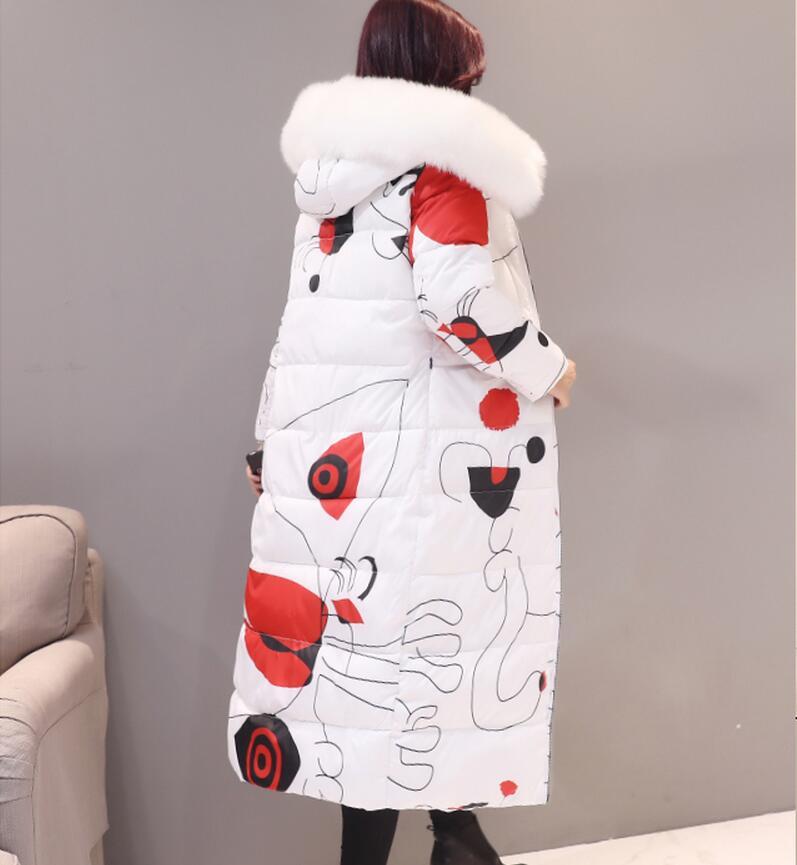 Coréenne De Veste Parkas Plus Coton Mode Vers Long Taille gray Bas G574 Impression Capuchon À Ouatée Manteau Femmes 2016 Femelle Navy Nouvelles D'hiver La Le Dames white dq0xfTdt