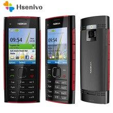 100% Оригинальные Unlokced Nokia X2 X2-00 Bluetooth FM JAVA 5MP разблокирована мобильный телефон с английским/Россия/Иврит/Арабский Клавиатура
