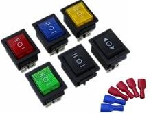 цены на KCD4 Rocker Switch Power Switch 3 Position ON-OFFON 6 Pins With Light 16A 250VAC/ 20A 125VAC  Distribution  terminal FDFD  в интернет-магазинах