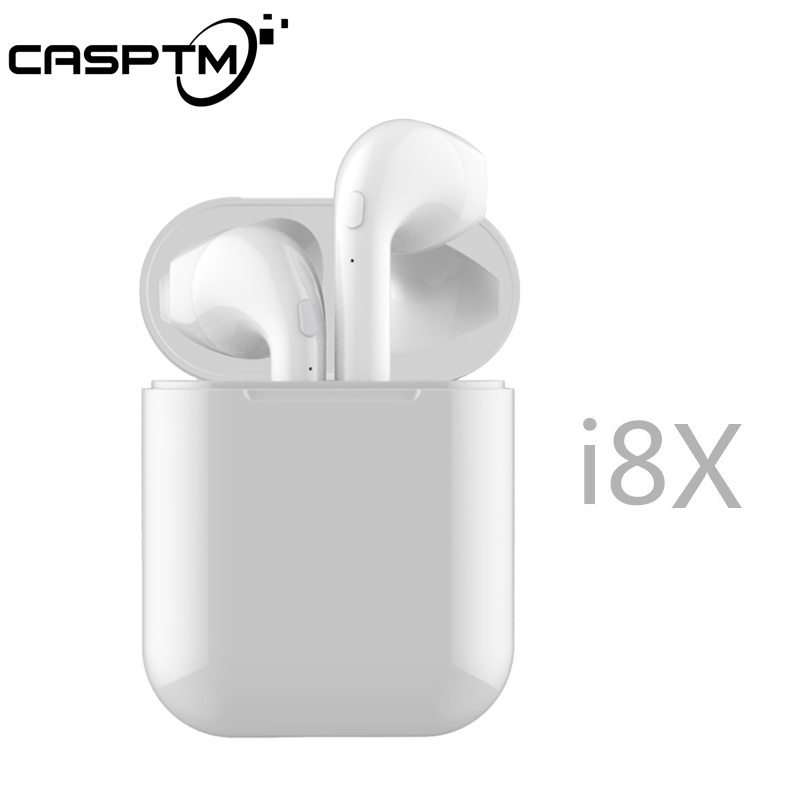 Castpm I8x TWS Auricolare Bluetooth Stereo Senza Fili Auricolari In-Ear di Sport del Trasduttore Auricolare per iphone Android Con scatola di Carico
