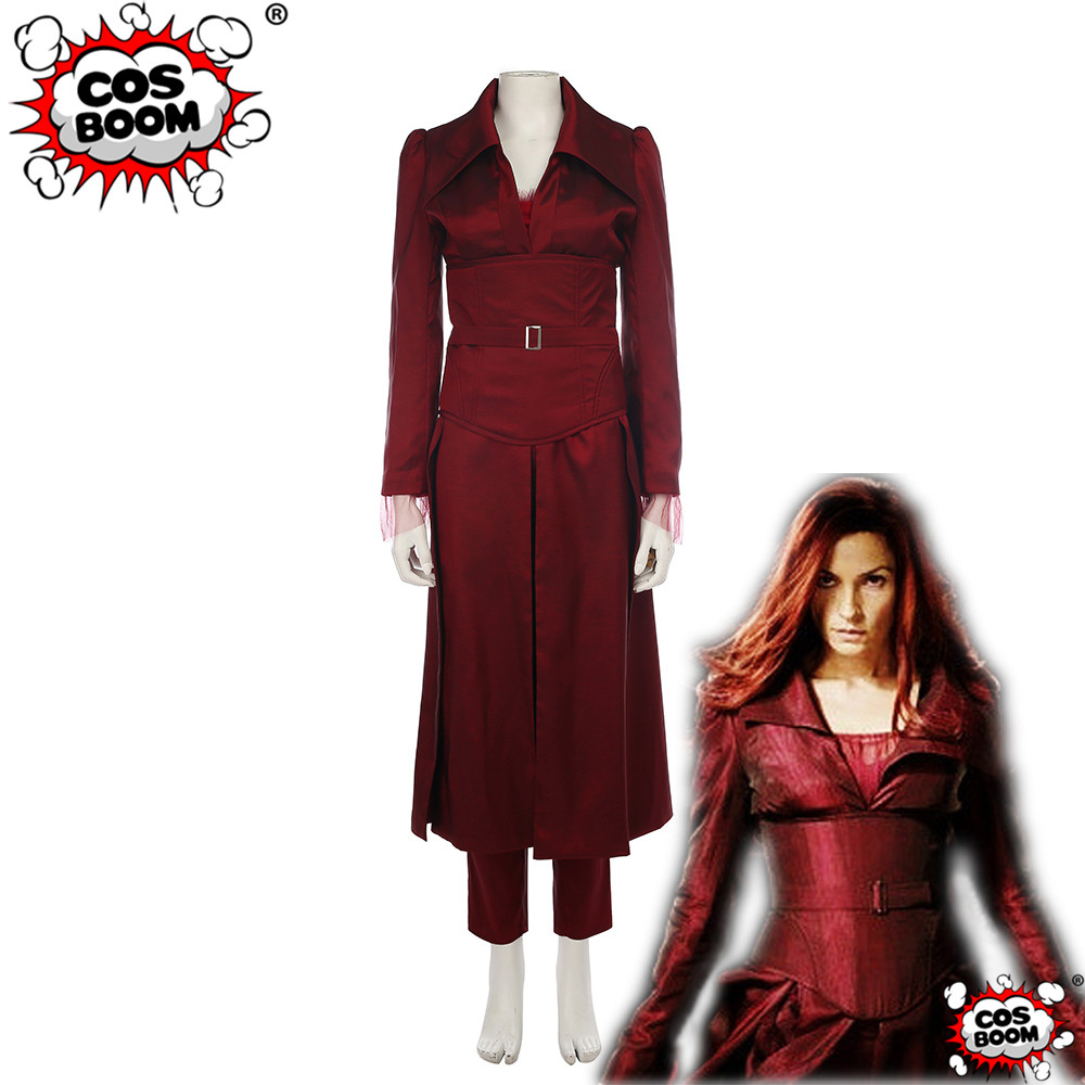 COSBOOM Dark Phoneix Costume X-Men The Last Stand Superhero Dark Phoneix Jean Grey Cosplay Halloween Costumes for Women