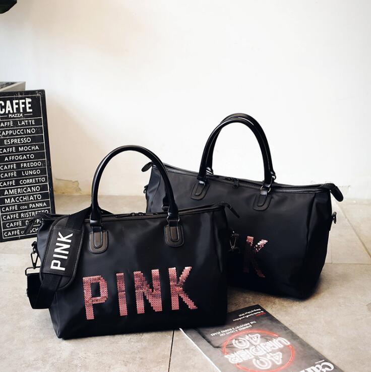 Large Capacity Gym Bag Women Yoga Handbag Nylon Travel Duffel Bags Black Outdoor Sport Bag Multipurpose Sling Shoulder Bags