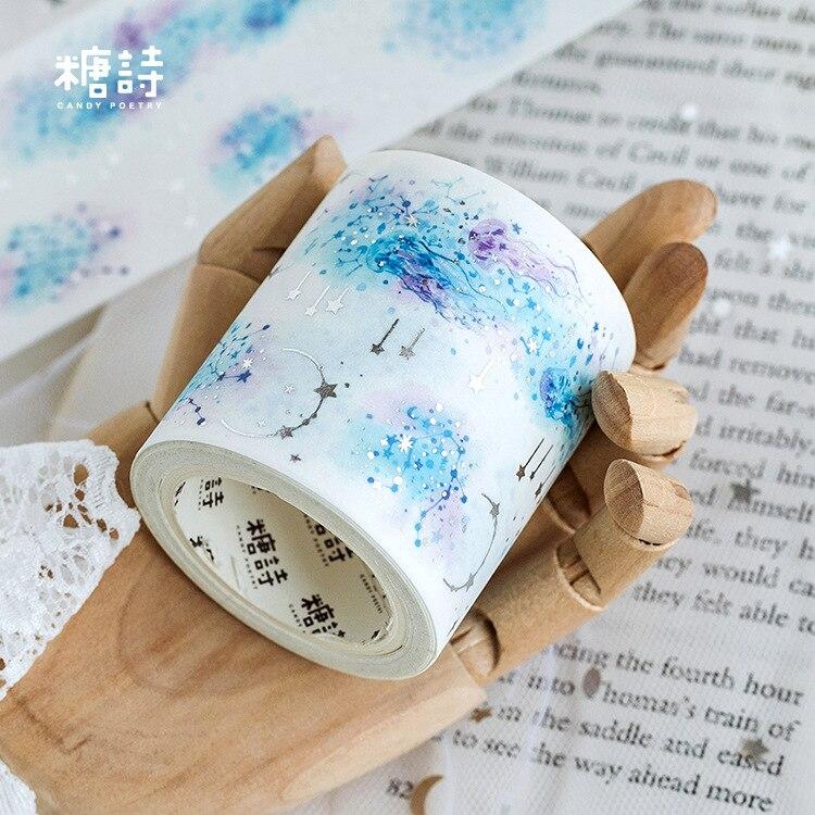1 Pcs Washi Tapes DIY Magic Meadows Japanese Paper Masking Tape Decorative Adhesive Tapes Scrapbooking Stickers 5cm*5M
