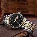 Часы Mige мужские  автоматические  стальные  золотые  водонепроницаемые