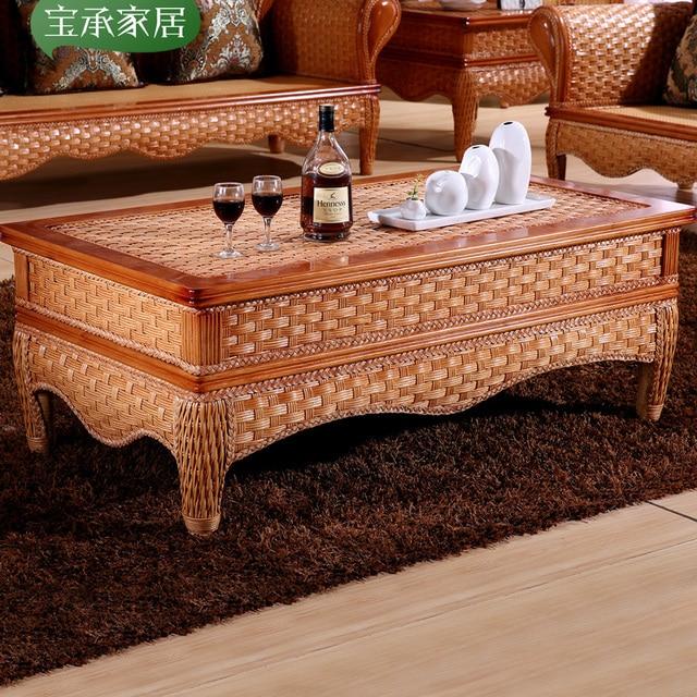 Southeast Asia Indonesia Rattan Coffee Table High End Hotel Clubs Rattan  Furniture In Indonesia Rattan