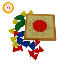 Montessori Material Educational Children Toys Math Teaching Aid Fractional Plate Wooden Toy