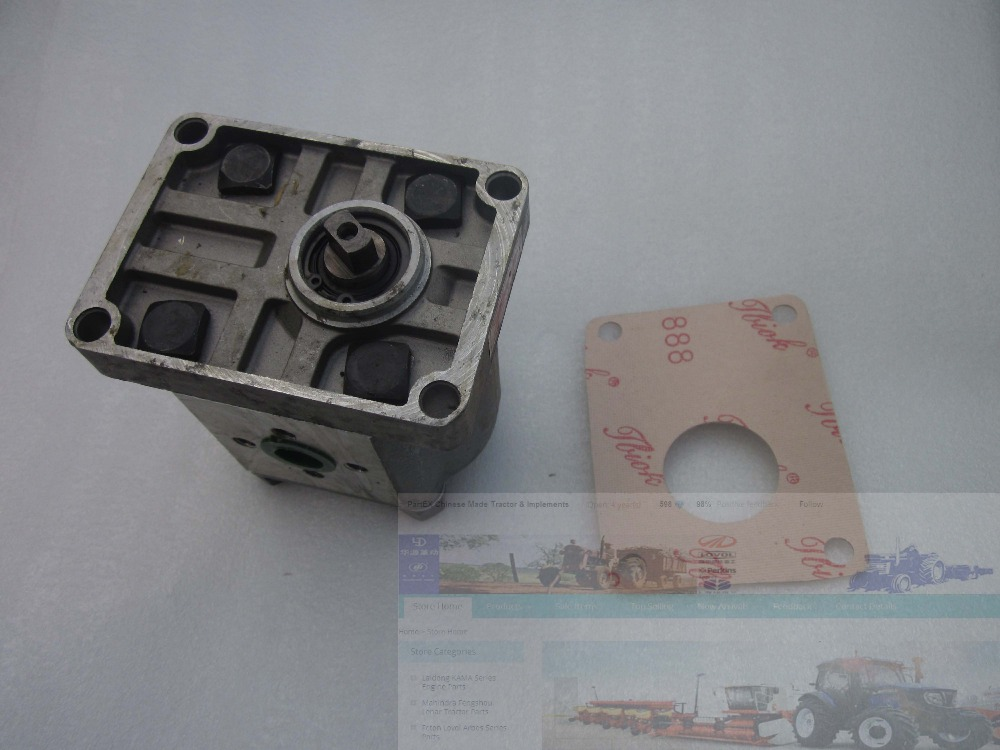 Gear pump CBN-E316L (left rotary, with flange, no end oil outlet, flat connection) of Dongfeng tractor hydraulic oil pump cbn e312 cfpr gear