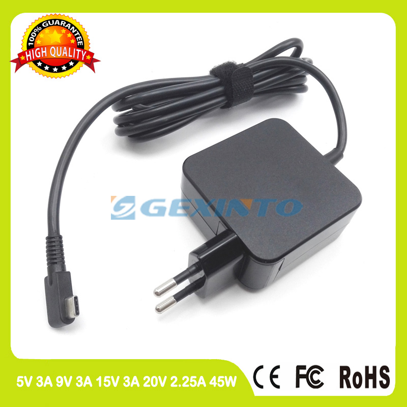 20V 2.25A 45W Wall Charger Type-C EU plug laptop Adapter for Acer Aspire Switch Alpha 12 SA5-271 SA5-271P Spin 7 SP714-51 acer spin 7