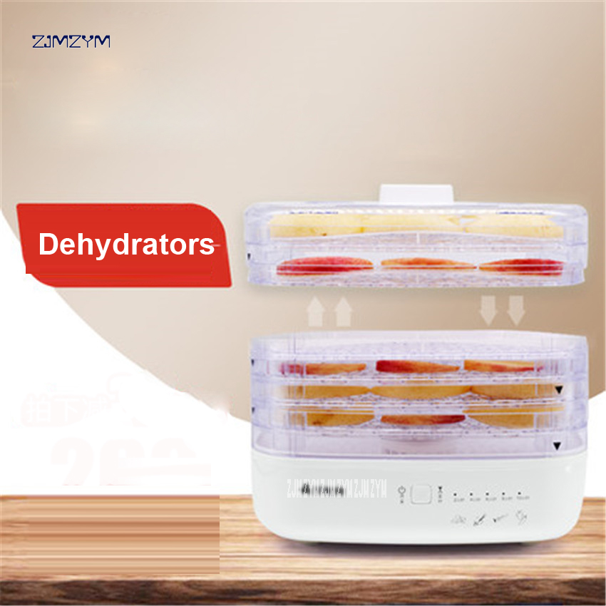 CDF-01 Household dried fruit machine Fruits and vegetables dehydration dry meat food machine Snacks in the dryer 5 layers 270W