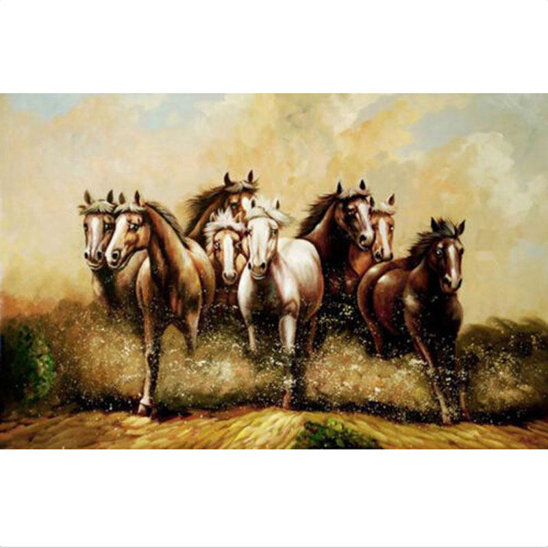 Modern Abstract Oil Painting 100 Hand Painted Top Quality On Canvas Wall Art NO Framed Home Decor Running Horse in Painting Calligraphy from Home Garden