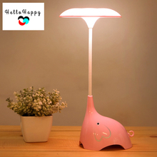 3 Level Dimming Touch Sensor Night Lights LED Kid Baby Lamp Children Bedroom Lamparas Cartoon Elephant Charged Battery Luminaria