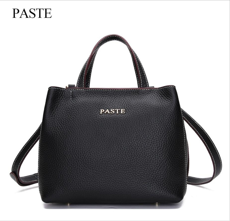 PASTE The New First Layer Leather Leather Package Leather Handbags Handbag Shoulder Messenger Bag Fashion Soft Leather Leisure paste new leather handbags first layer of leather shoulder bag messenger bag handbag white casual bag female shoulder bag
