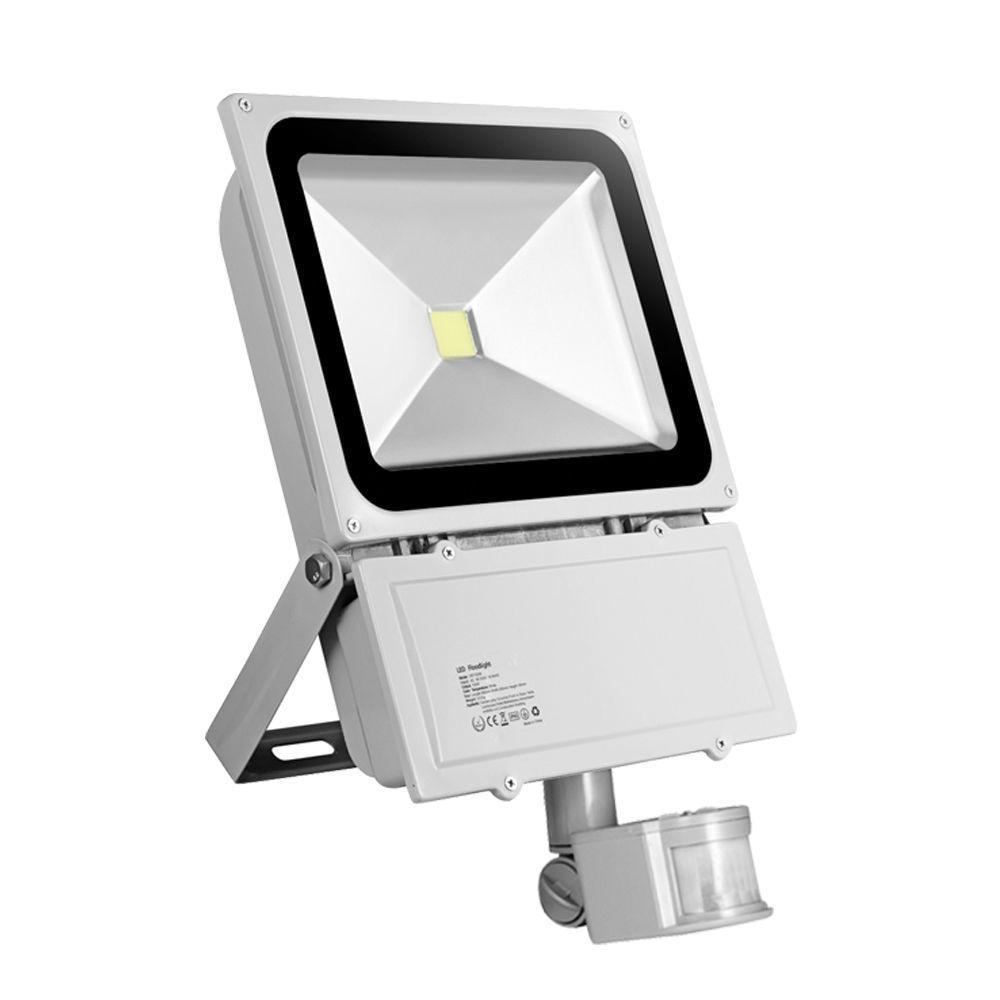 100W 9000LM LED Sensor Flood Light IP65 AC 85-265V Proyector Refletor Led Floodlight Projecteur Led Spotlight Outdoor Lighting ultrathin led flood light 200w ac85 265v waterproof ip65 floodlight spotlight outdoor lighting free shipping