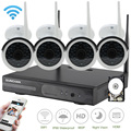 SUNCHAN Plug and Play HD 4CH NVR 960P Wireless CCTV System Outdoor Night Vision Security Camera Home WIFI Surveillance Kit 1TB