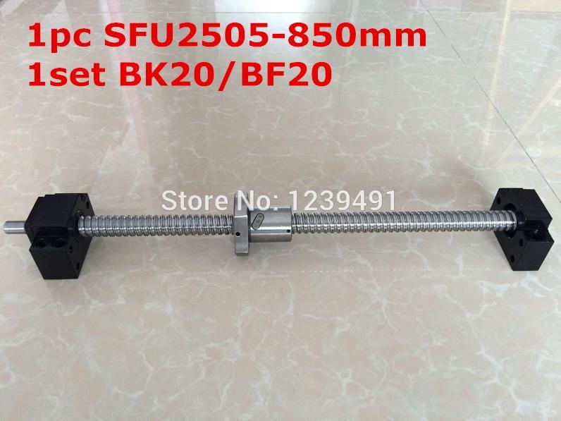 SFU2505 - 850mm ballscrew with end machined + BK20/BF20 Support CNC partsSFU2505 - 850mm ballscrew with end machined + BK20/BF20 Support CNC parts