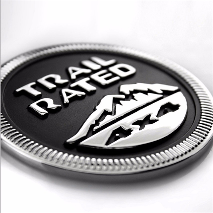 4x4 4WD Car Sticker Emblem Body Badge Trail Rated Fender Truck Auto Sticker Styling Decoration For Jeep Patriot Liberty Wrangl 2 pcs auto chrome 45th anniversary for 2012 camaro fender emblem badge sticker