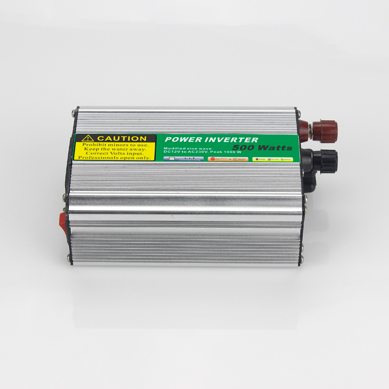 MAYLAR@ 1pcs 500W Car Power Inverter Converter DC 12V to AC 110V or 220V Modified Sine Wave Power Solar inverters maylar 22 60vdc 300w dc to ac solar grid tie power inverter output 90 260vac 50hz 60hz