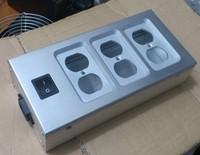New Six power socket box /All aluminum silver power socket case