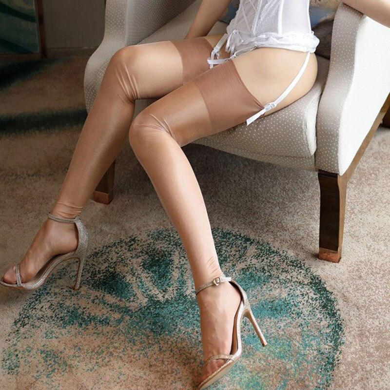 Donne Calze Autoreggenti Collant Coscia Calza