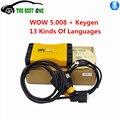 Ferramenta de Diagnóstico profissional MVD Com WOW 5.008 Software + Keygen Apoio 13 Tipos De Línguas Apoio Carro/Caminhão Até 2016