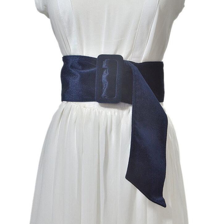 Women's Runway Fashion Velvet Cummerbunds Female Vintage Dress Corsets Waistband Belts Decoration Wide Belt R1439