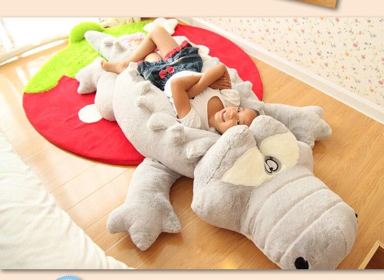 200 cm animaux en peluche grande taille Simulation Crocodile en peluche coussin oreiller jouets pour adultes 1 pièce