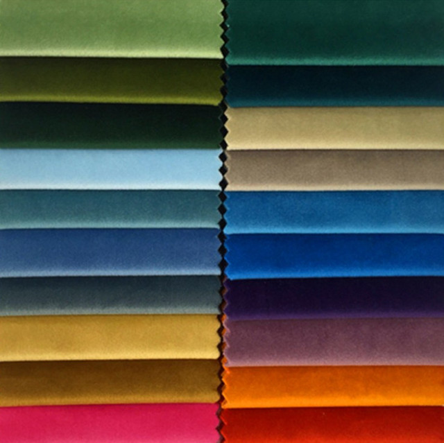 60 Colors Solid Plain Dye Dull Velvet Cloth Sofa Chair Hotel Home Decoration Dry Upholstery Fabric