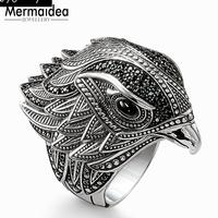 Cocktail Ring Elegant Falcon 925 Sterling Silver Gift for Women Man Free Shipping Wholesale Price 2019 Fine Jewelry