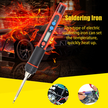 Electric Soldering Irons Kit Temperature Adjustable Mini Portable Digital Display Electric Soldering Iron Set with USB Cable цены онлайн
