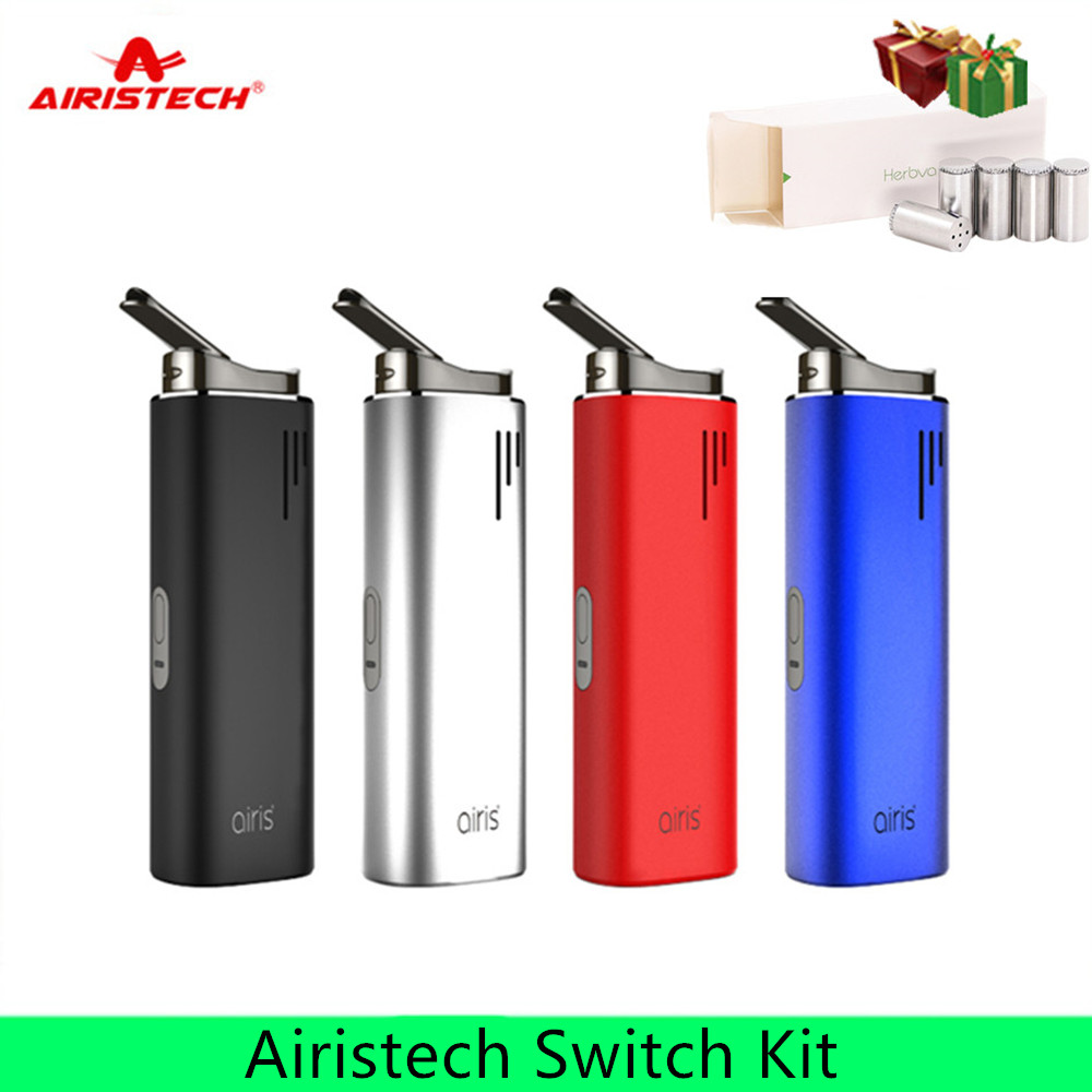 Original Airistech Airis Switch Kit Dry Herb Wax Vaporizer 2200mAh Battery Ceramic Chamber Vape Pen for