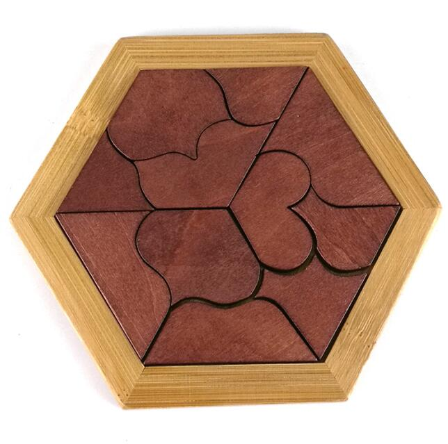 2017 New Desk Novelty IQ Wooden Board Puzzle Game Mind Brain Teaser Tangram Puzzles Toy for Children Adults