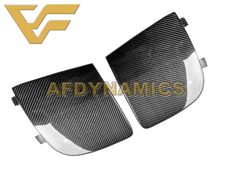 06-07 WRX Sti 9 Carbon Fiber Surface Front Bumper Fog Light Frame Trim Cover