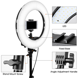 Image 3 - Travor 12インチledリングライト2色led調光可能リングランプ写真撮影selfieライトとビデオ用の三脚スタンドライブ