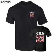 1a0956f9b EINAUDI 2017 Nową prace Jordan 23 z Przodu Iz Tyłu Druku Mężczyzn Swag  koszulka Najwyższej Jakości